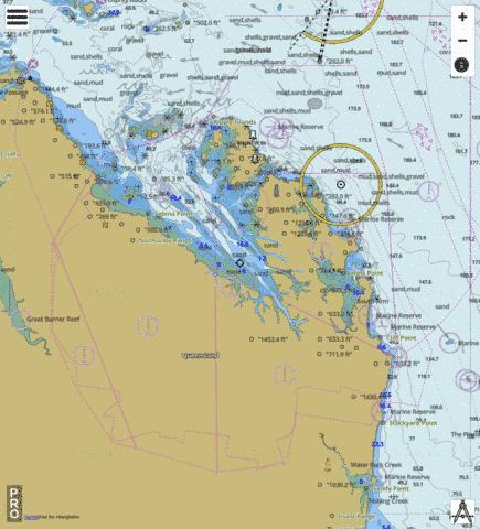Coral Sea - Broad Sound Channel and Shoalwater Bay Marine Chart - Nautical Charts App
