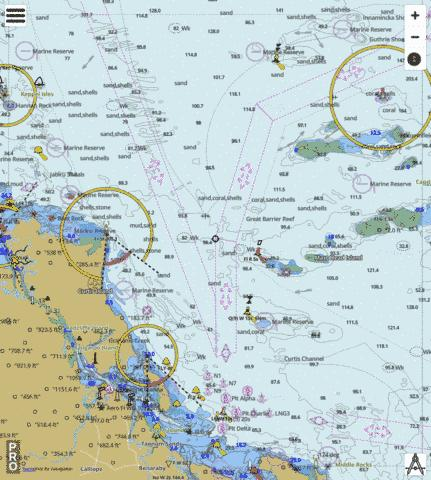 Australia - Great Barrier Reef - Bustard Head to Keppel Isles Marine Chart - Nautical Charts App