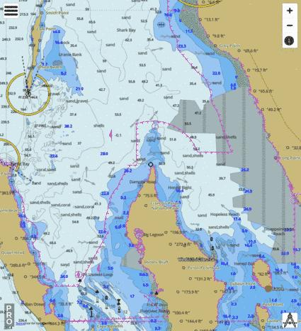 Western Australia Shark Bay Marine Chart AUAU - Ocean maps with depths