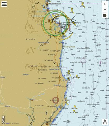 Coral Sea - Richmond River to Point Danger Marine Chart - Nautical Charts App