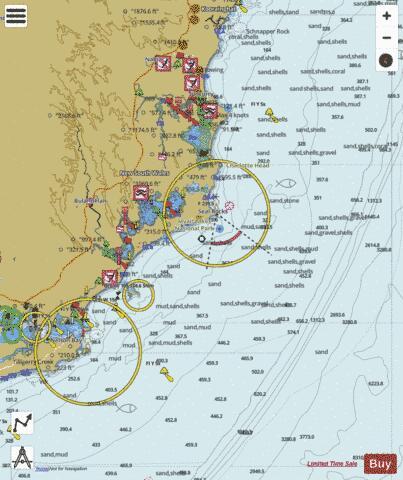 Tasman Sea Port Stephens To Cape Hawke Harbour Marine Chart