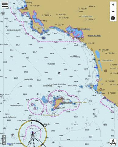 South Australia - Cape Blanche to Investigator Group Marine Chart - Nautical Charts App