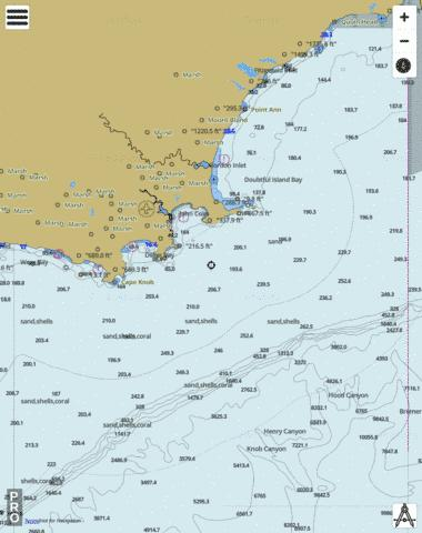 Cape Knob to Red Island Marine Chart - Nautical Charts App
