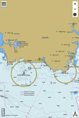 Australia - Tasmania - South Coast - South West Cape to East Cape Marine Chart - Nautical Charts App