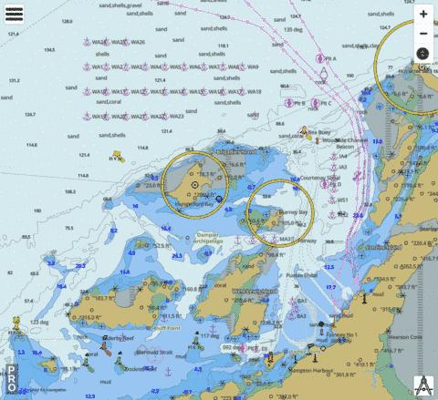 Australia - Western Australia - Dampier (Marine Chart : AU_AU5058P0