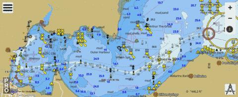 Australia Victoria Port Phillip Geelong Marine Chart