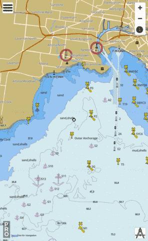 Australia Map Melbourne.Australia Victoria Port Phillip Melbourne Marine Chart