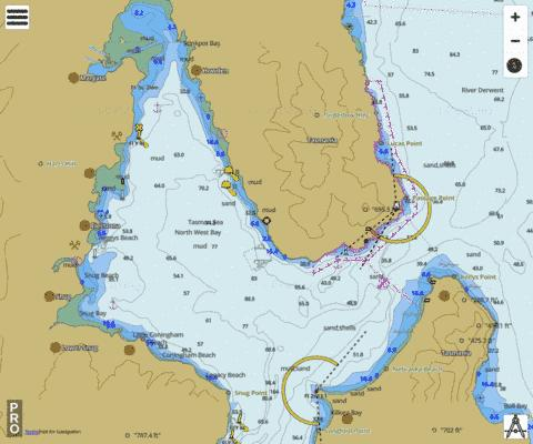 Australia - Tasmania - North West Bay Marine Chart - Nautical Charts App