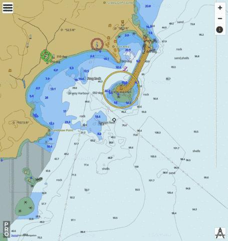 Map Of Australia King Island.Australia Tasmania King Island Grassy Harbour Marine Chart