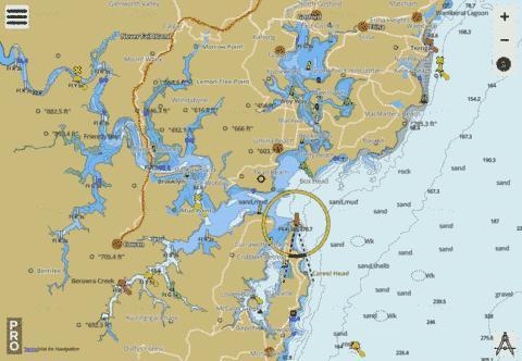 Central Coast Australia Map.Australia New South Wales Central Coast Broken Bay And
