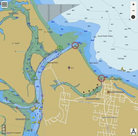 New South Wales - Trial Bay Marine Chart - Nautical Charts App