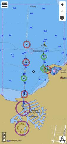 Australia - Queensland - Scarborough Boat Harbour and Approaches Marine Chart - Nautical Charts App