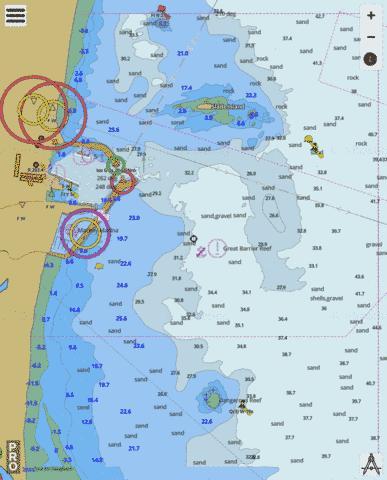 Mckay Australia Map.Queensland Great Barrier Reef Mackay Harbour Marine Chart