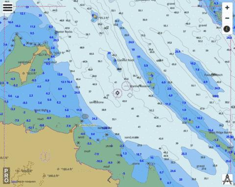 Queensland - Great Barrier Reef - Sabina Point Marine Chart - Nautical Charts App
