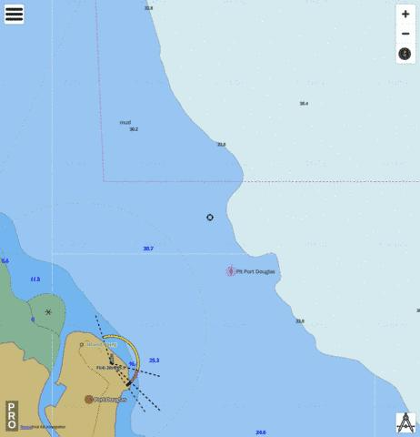 Queensland - Great Barrier Reef - Port Douglas Marine Chart - Nautical Charts App