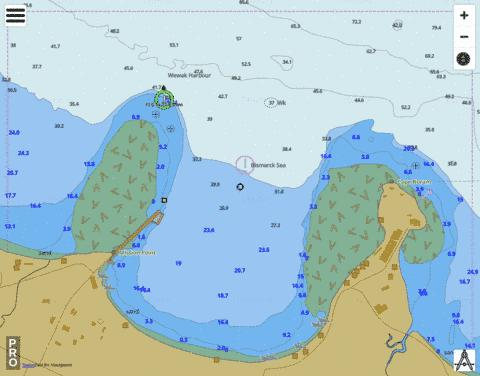 Papua New Guinea - North Coast - Wewak Wharves Marine Chart - Nautical Charts App