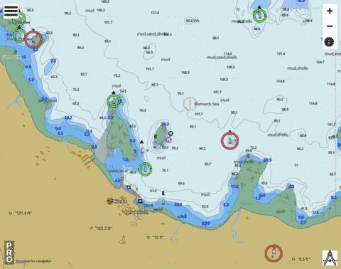 Bismarck Sea - Kimbe Marine Chart - Nautical Charts App