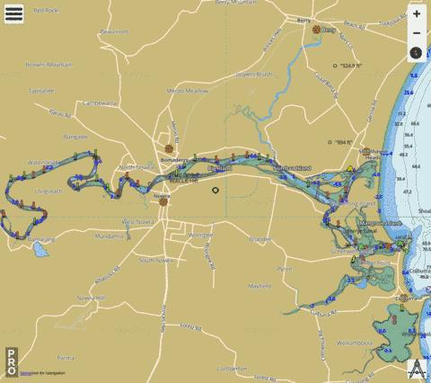 Shoalhaven River Fishing Map - i-Boating App