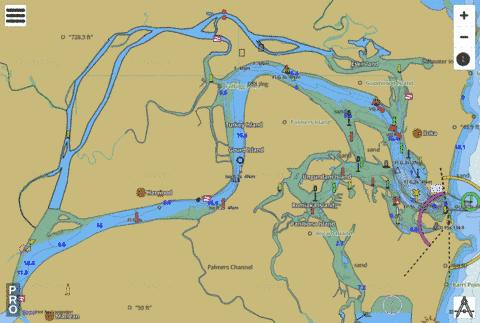 Clarence River Fishing Map - i-Boating App