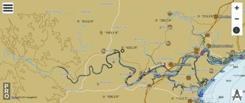 Manning River Fishing Map - i-Boating App