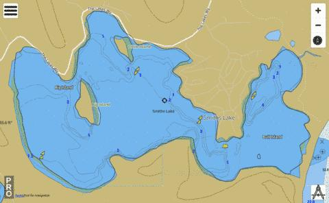 Smiths Lake Fishing Map - i-Boating App