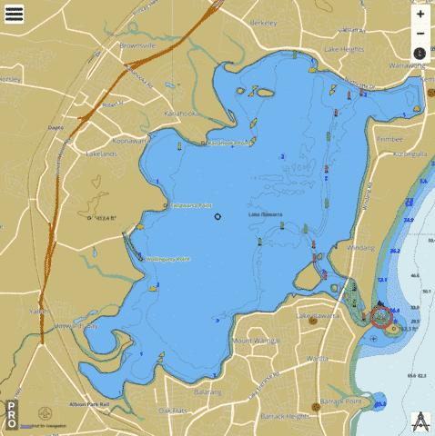 Lake Illawarra Fishing Map - i-Boating App