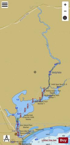 Hardy Inlet Fishing Map - i-Boating App