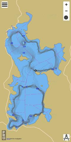 Great Lake Tasmania Fishing Map - i-Boating App