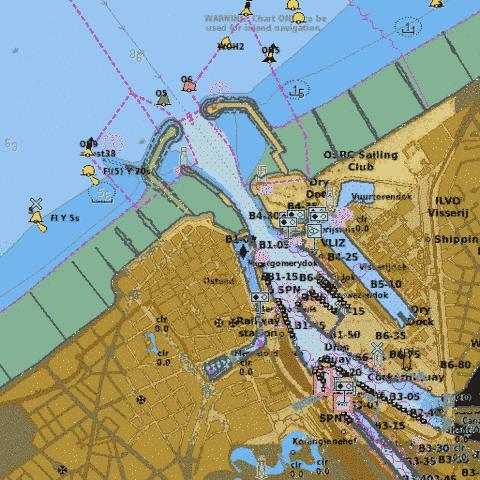 A Oostende Marine Chart - Nautical Charts App