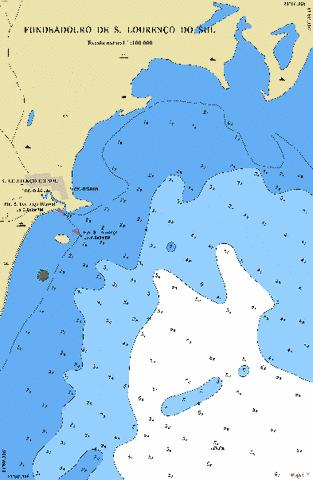 FUNDEADOURO DE SAO LOURENCO DO SUL Marine Chart - Nautical Charts App