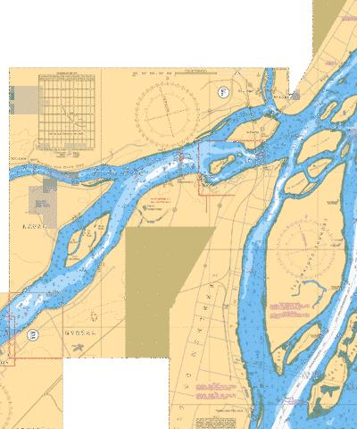 PONT-VIAU A/TO ILE BOURDON E-F Marine Chart - Nautical Charts App