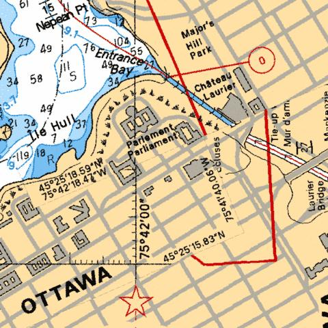 OTTAWA - LOCKS/ÉCLUSES 1-8,NU Marine Chart - Nautical Charts App