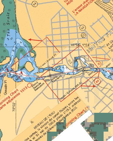 SMITHS FALLS - LOCKS/�CLUSES 29A 31 Marine Chart - Nautical Charts App