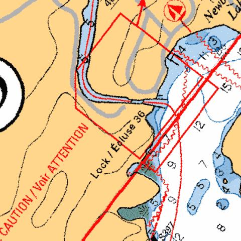 NEWBORO - LOCK/�CLUSE 36 Marine Chart - Nautical Charts App