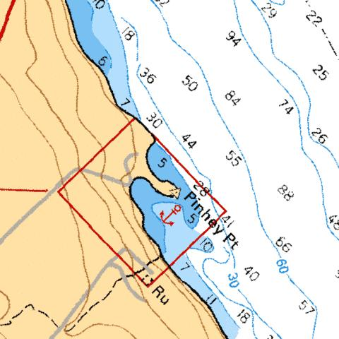 PINHEY POINT MOUILLAGE/ANCHORAGE Marine Chart - Nautical Charts App