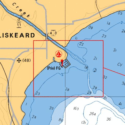 NEW LISKEARD Marine Chart - Nautical Charts App