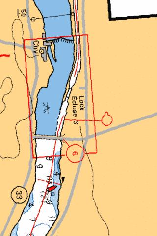 GLEN MILLER LOCK / �CLUSE 3 Marine Chart - Nautical Charts App