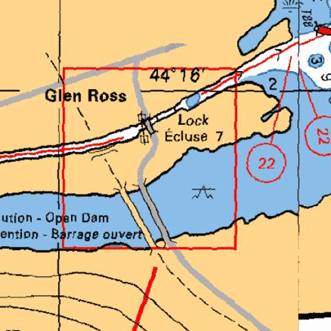 GLEN ROSS LOCK / �CLUSE 7 Marine Chart - Nautical Charts App