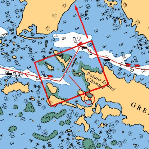POTATO ISLAND CHANNEL Marine Chart - Nautical Charts App