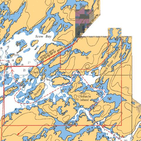 OBSTACLE ISLAND TO/� GATEWAY ISLANDS Marine Chart - Nautical Charts App