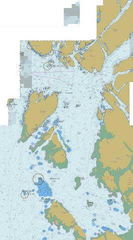 Dixon Entrance, Eastern Portion\Partie Est Marine Chart - Nautical Charts App