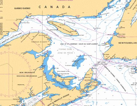 GOLFE DU SAINTLAURENT GULF OF ST LAWRENCE Marine Chart CA40021