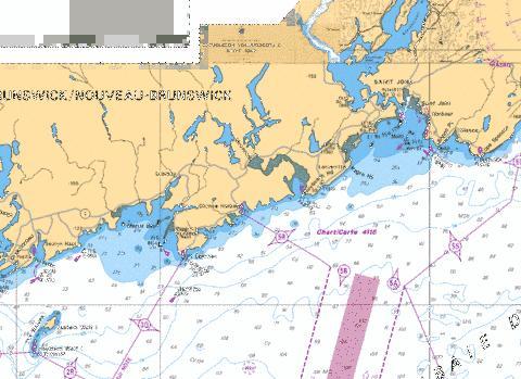 APPROACHES TOAPPROCHES A SAINT JOHN Marine Chart CA41161
