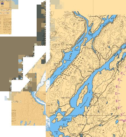 GRAND BAY TO/� EVANDALE INCLUDING/Y COMPRIS BELLEISLE BAY Marine Chart - Nautical Charts App