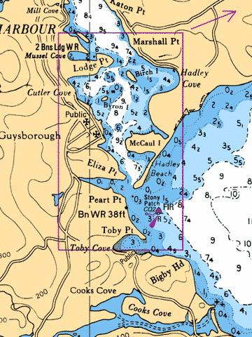 GUYSBOROUGH HARBOUR,NU Marine Chart - Nautical Charts App