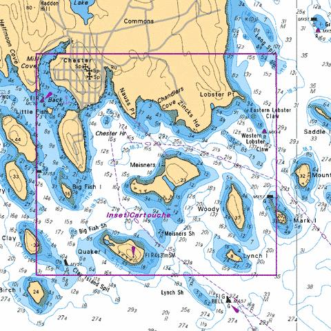 CHESTER HARBOUR Marine Chart - Nautical Charts App