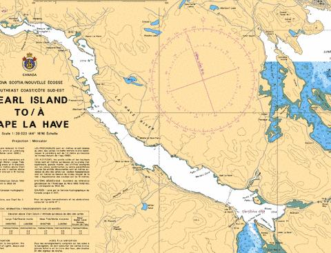 LAHAVE RIVER RIVERPORT TO/� CONQUERALL BANK Marine Chart - Nautical Charts App