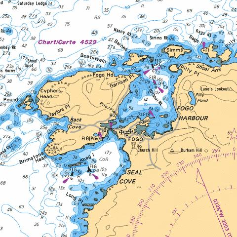 FOGO HARBOUR AND / ET SEAL COVE Marine Chart - Nautical Charts App