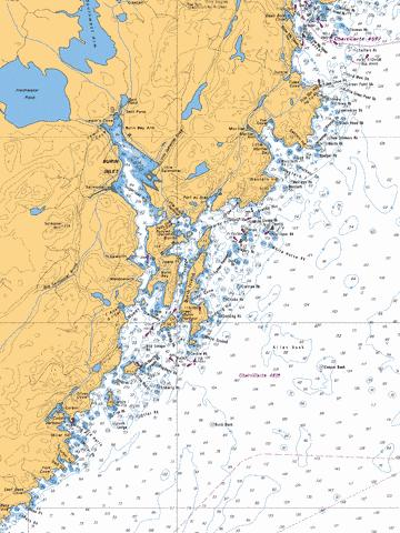 BURIN INLET AND APPROACHES / ET LES APPROCHES Marine Chart - Nautical Charts App