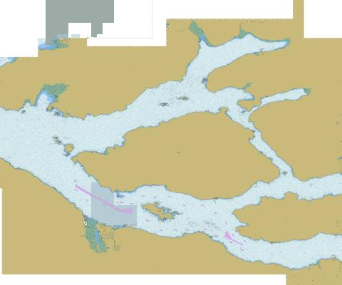 Johnstone Strait, Race Passage and\et Current Passage Marine Chart - Nautical Charts App